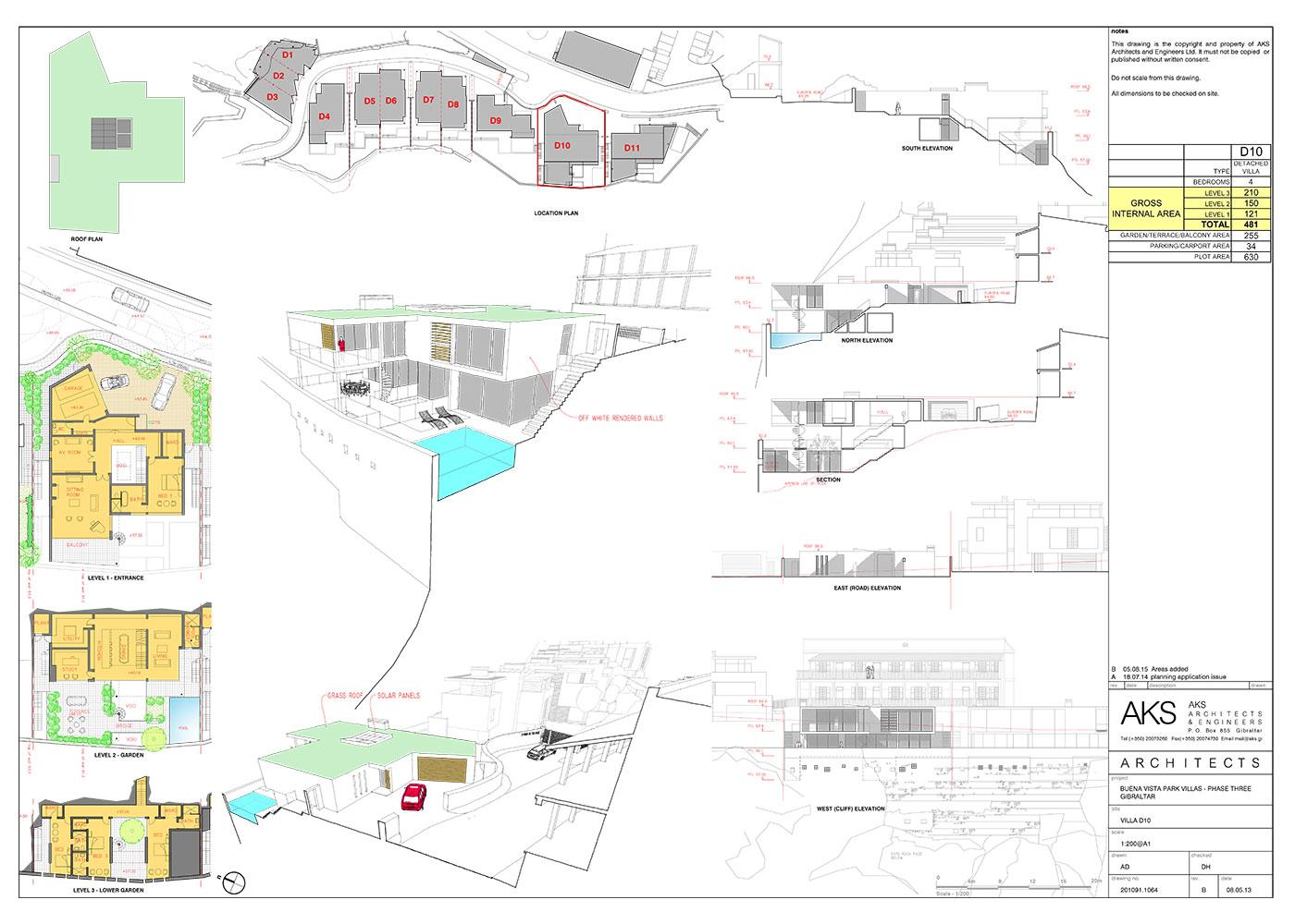 d10 villa floor plan image